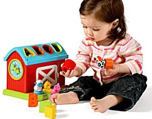 Baby girl play toys