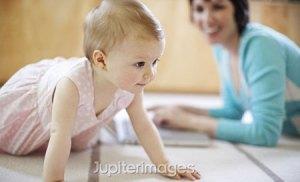 Baby practice to crawl