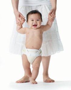 Baby practice to walk