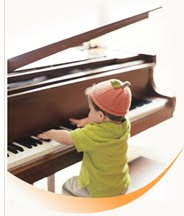 Baby learn piano