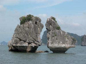 The Kissing Cocks - nice symbol of Halong bay
