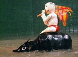 Vietnamese water puppet - the soul motherland on characters