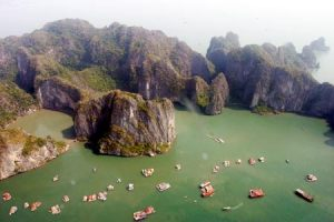 Halong bay view at the top