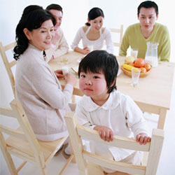 Teaching children to build family relationships